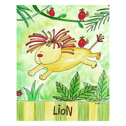 Oh How Cute Kids by Serena Bowman - Jungle Boogie - Lion, Ready To Hang Canvas Kid's Wall Decor, 8 X 10 - Every kid is unique and special in their own way so why shouldn't their wall decor be so as well! With our extensive selection of canvas wall art for kids, from princesses to spaceships and cowboys to travel girls, we'll help you find that perfect piece for your special one.  Or fill the entire room with our imaginative art, every canvas is part of a coordinating series, an easy way to provide a complete and unified look for any room.
