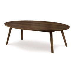 "Copeland Furniture - Copeland Furniture Catalina Oval Coffee Tables 13 3/4"" 5-CAL-40-04 - The Catalina media and occasional pieces are crafted in solid American black walnut hardwood."