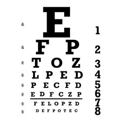 Dana Decals - Eye Chart Wall Decal - Ideal for homes, kids rooms, and schools.