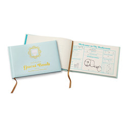 The Bathroom Guestbook - Add a little humor with this bathroom guest book.