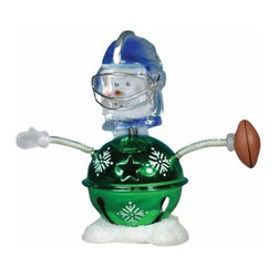WL - 3.75 Inch Football Winter Christmas Snowman Bobble Figurines - This gorgeous 3.75 Inch Football Winter Christmas Snowman Bobble Figurines has the finest details and highest quality you will find anywhere! 3.75 Inch Football Winter Christmas Snowman Bobble Figurines is truly remarkable.