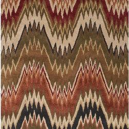 None - Hand-Made Brown/ Red Wool/ Art Silk Plush Pile Rug (8X11) - Hand-Made Brown/ Red Wool/ Art Silk Plush Pile Rug (8X11)