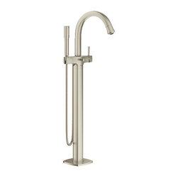 Grohe - Grohe Grandera Single Handle Floor Standing Roman Tub Faucet (23318EN0) - Grohe 23318EN0 Grandera Single Handle Floor Standing Roman Tub Faucet, Brushed Nickel