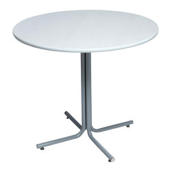 Correll Inc - Round Cafe Breakroom Top in Grey Granite (24 - Finish: 24 in./Grey GraniteColumn and base not included. Pictured in Grey Granite. Thickness of the table top is 1.25 in.. 24 in.. 30 in.. 36 in.. 42 in.. 48 in.. 60 in.