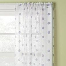 Kids' Curtains: Kids Purple Polka Dot Curtain Panels in Curtains