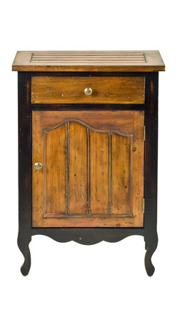 Safavieh - Safavieh Logan Fir Wood Cabinet in Cherry and Black - Safavieh - Accent Tables - AMH4012A - The Safavieh Logan Cabinet is styled with a French door with wood knobs and features a bead board. Enhance any rooms decor with this well constructed and elegant cabinet.