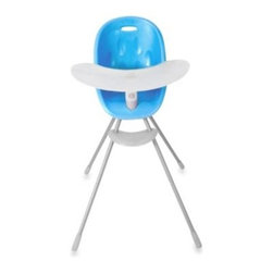 Phil & Teds - phil&teds Poppy High Chair in Bubble Gum Blue - The super cute Poppy high chair is an adaptable chair that grows with your baby. Its fresh and modern design is as stylish as it is practical and is sure to complement any interior.