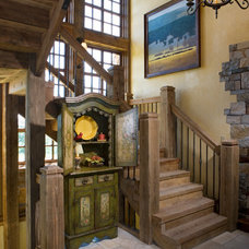 Traditional Staircase by Locati Architects