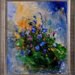 overstockArt.com - Ledent - Blue chicorees - Blue chicorees is a canvas print of a modern painting showing blue chicorees plant. Originally oil on canvas. Pol Ledent was born in 1952 in Belgium. He came to painting in 1989. He started with watercolor but felt rapidly that oil painting would match his way of being. He is a self-taught painter . Nevertheless he took some drawing lessons in a Belgian academy. After taking part into numerous group exhibitions, some galleries in Belgium proposed to him to exhibit his works. Dinant, Bouillon, Brussels , Paris and Moscow in October 2006.