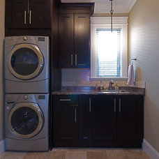 Traditional Laundry Room by Sonbuilt Custom Homes Ltd.