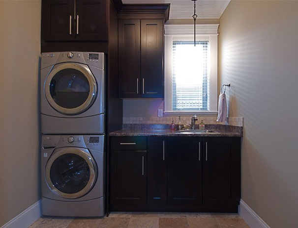 Traditional Laundry Room by Sonbuilt Custom Homes Ltd.