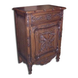 EuroLux Home - New Jam Cabinet Oak Rococo Oak Carved 1-Door - Product Details
