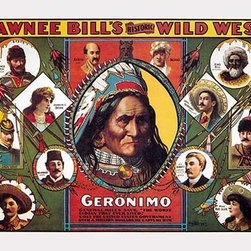 "Buyenlarge.com, Inc. - Geronimo - Paper Poster 20"" x 30"" - Another high quality vintage art reproduction by Buyenlarge. One of many rare and wonderful images brought forward in time. I hope they bring you pleasure each and every time you look at them."