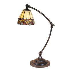 Dale Tiffany - Dale Tiffany Ainsley Desk Lamp - TA100700 - Shade Material: Hand Rolled Art Glass