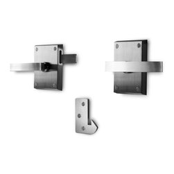 """360 Yardware - Alta Stainless Steel Modern Lever Gate Latch - Alta Stainless Steel Contemporary Gate Latch fits gates up to 5-1/2"""" thick."""