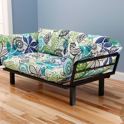 Christopher Knight Home - Christopher Knight Home Multi-Flex Black Metal Daybed/Lounger with Blue/ Green M - This unique and versatile lounger easily converts from a chair to a lounger or bed. It's great to have in a  bedroom or guest room for extra sleeping for the family or friends.