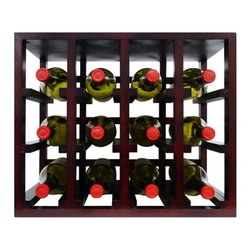 "Vinotemp EPSTACK12 Epicureanist 12 Bottle Stackable Wooden Wine Rack - The perfect combination of function and style. Easily place and expand your wine collection with these simple 12-bottle stackable wood wine rack cubes. Designed to fit comfortably on a counter, these racks come complete with 4 pegs which can be used when stacking to make racks more secure. Strong hardwood allows you to be confident in the safety of your wine racks and unlike with many other wine rack cubes on the market there is no assembly required! Rack comfortably fits 12 standard 750 ml wine bottles and its medium brown finish looks great everywhere.Features: - Stackable cube wine rack - All wood rack - No assembly required! - Beautiful dark brown finish - 3 3/4-inch cubicle racking - Capacity: 12 750 ml wine bottles - Dims: 15 3/4""H x 19 3/32""W x 10 11/16""D"