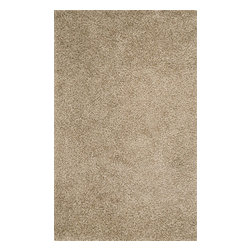 Surya - Vivid Hand Woven Rug in Beige - The softness of Vivid shag area rug offer great cushioning for the first steps of any baby. It Is easy to care for if you follow the instructions properly. Vivid shag rug can can add style and class to any room with a hardwood floor.    Features: