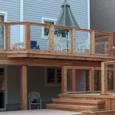 Traditional Exterior by Forest Fence & Deck Co Ltd.