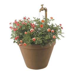 Kenroy Home - Kenroy Home 53220 Single Light Floor Fountain Full Bloom Collection - This classic terra cotta form is comfortable on a deck, porch or patio. An adjustable water spigot and uplight provides sensory experience day or night. Plant your favorite flowers and give it your own unique touch.Requires 1 10w 2V (JC) Base Bulbs (Included)2 Bulbs Included