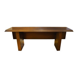 Gorgeous Solid Wood Folding Console Table with Swinging-Gate Table Legs - Dimensions:L 82''  × W 36''  × H 31''