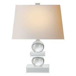 Visual Comfort and Company - Visual Comfort and Company CHA8652CG-NP E.F. Chapman Geometric 1 Light Table Lam - This 1 light Decorative Table Lamp from the E.F. Chapman Geometric collection by Visual Comfort will enhance your home with a perfect mix of form and function. The features include a Crystal finish applied by experts. This item qualifies for free shipping!
