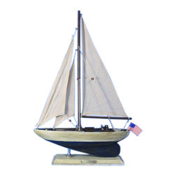 "Handcrafted Nautical Decor - Rustic Enterprise 16"" - Vintage Rustic Sailboat - Not a model ship kit"