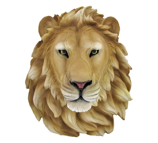 African Lion Head Mount Wall Statue Bust Leo - This awesome, cold cast resin replica African Lion wall mount is a prefect addition to any jungle themed room. The head measures 16 inches tall, 14 1/2 inches wide and 8 inches deep. The detail is incredible, down to the hand painted eyes. This Lion`s head is brand new, and makes a great gift for any big cat fan or people who`s Zodiac sign is Leo.