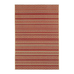 "Capel - Contemporary Elsinore-Afghan 3'11""x5'6"" Rectangle Red Pepper Area Rug - The Elsinore-Afghan area rug Collection offers an affordable assortment of Contemporary stylings. Elsinore-Afghan features a blend of natural Red Pepper color. Machine Made of 100% Olefin the Elsinore-Afghan Collection is an intriguing compliment to any decor."