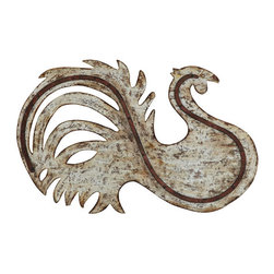 Industrial Metal Chanticleer Wall Art - Did you know it's good luck to have a rooster in your kitchen? This gift has some French Industrial flair and brings good luck - what more could one ask for?