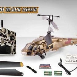 My WebRC 12 in. Black Hawk Helicopter - Gold desert camo makes the My WebRC 12 in. Black Hawk Helicopter look extra tough. Whether they're 14 or 114, this RC helicopter is going to be their best gift ever. This baby comes with all the bells the whistles like extra propellers, batteries, an online WebRC game card for user access, and, of course, the charger. Plus it has a built-in GYRO to keep it stable during flight and is built from durable plastic. Includes a tricked-out remote control and handy instructions so you can fly your Black Hawk helicopter up, down, forward, backward, turn left, or turn right.About My Funky PlanetThe people at My Funky Planet are very passionate about toys and love bringing innovative toys to you. Every one of their toys is unique, of top-quality, and a lot of fun. Their team has over 26 years of experience in the toy world and they feel very lucky to be able to do what they love. All My Funky Planet toys have passed the most rigorous safety tests for your peace of mind. They're committed to offering unparalleled customer service and making their customers happy. They strive to innovate every day and bring this innovation to their clients in the form of value.