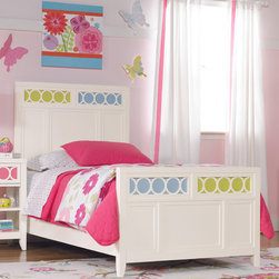 RR - Lily Panel Bed with Colors Footboard - Lily Panel Bed with Colors Footboard