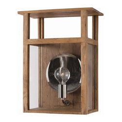 Arteriors - Arteriors Hardy Lantern - This wooden box lantern features glass insets and polished nickel hardware. it serves double duty, as it can sit on a tabletop as a lamp or on the wall as a sconce. Sawtooth hangers on back and line switch.Primary Material: WoodFinish: NaturalColor: Brown