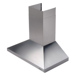 """Broan - Ballista 619004 36"""" Wall-Mount Chimney Hood with 450 CFM Internal Blower  Three- - With an enduring stainless steel design the Ballista combines the flawless look of Italian style with easy to clean surfaces and performance that any gourmet would love Three-speed control allows you to select the setting appropriate for your cooking..."""