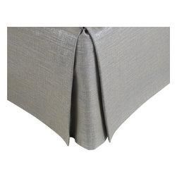 MysticHome - Splendore Steel - Bed Skirt by MysticHome, Twin - The Splendore Steel, by MysticHome