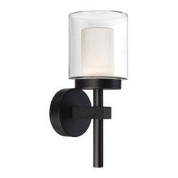 Modern Forms - Modern Forms WS-W1815BL Deco Black Outdoor Wall Sconce - Modern Forms WS-W1815BL Deco Black Outdoor Wall Sconce
