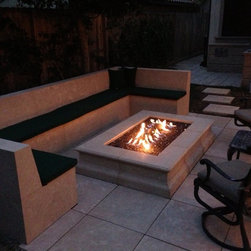 "Fire pit - 72"" w x 48L x 12-1/2"" high, choose from 15 colors"