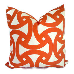 Trina Turk Persimmon Santorini Indoor/Outdoor Pillow by Pop O' Color - Don't forget the pillows! I prefer outdoor pillow covers in the mudroom — just throw them in the wash when needed. Switch them out with the seasons for a whole new look at an easy price.