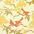 Birds Fabrics by Galbraith & Paul - Charming! Birds have been a popular motif in textiles for centuries, and Galbraith & Paul does it so well here. I love the feminine, Asian-inspired look of this print.