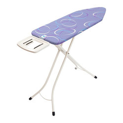 Brabantia Ironing Table, Solid Steam Iron Rest, Ivory Frame, Moving Circles Cove