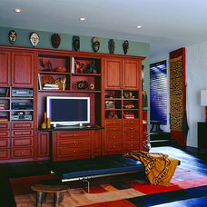 Contemporary Home Theater by California Closets HQ
