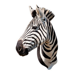 Walls Need Love - Zebra Mount Decal - This beautiful wall decoration honors the striped zebra in all of its black and white glory. It gives you the chance to appreciate just how artistically perfect this creature is.