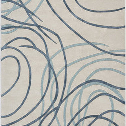 Rugs America - Millennium Patriotic Blue/White Rug - The Millennium collection is the most breathtaking contemporary floor covering product in today's market. With a limelight on the most fashion forward colors, a matchless and elegant set of contemporary designs has been skillfully crafted into a superlative home fashion product. Washed several times for extra shine, multiple textures have been utilized with a combination of premium wool and mixed yarns to help create this timeless contemporary masterpiece. Features: -Technique: Tufted / Crafted.-Material: Premium wool.-Construction: Handmade.-Collection: Millennium.-Distressed: No.-Primary Color: Blue/white.Dimensions: -Pile height: 0.75''.-Overall Dimensions: 27-132'' Height x 18-96'' Width x 0.75'' Depth.Warranty: -1 year limited Mfg warranty.
