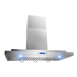 "AKDY - AKDY AG-Z198KD Euro Stainless Steel Wall Mount Range Hood, 30"" - AKDY products offer the best in contemporary design matched with the latest in appliance technologies to transform the way you live. Sporting a bold, dramatic look and state of the art features, this collection provides the perfect combination of style and innovation throughout your kitchen. The AKDY 198KD wall mount range hood features 760 CFM centrifugal blower, 3 fan speeds with quiet operation. Optional recirculating kits are available."