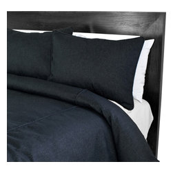 "Sands - Chooty - Denim Black Corded King Duvet and 2 Corded Shams - Revitalize the look of your bed with simplicity. The Duvet Set includes a denim black corded duvet and two shams.  The solid color offers a crisp, clean design or a mat to add your own splash of color. (King Size 94""W x 100""L)"