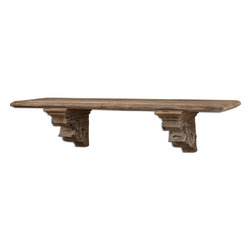 Uttermost - Uttermost McCoy Aged Wood Shelf 07658 - Rustic wood finished with a taupe gray wash.