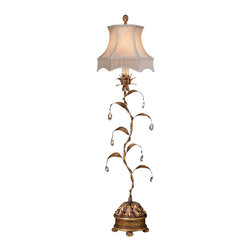 Fine Art Lamps - Fine Art Lamps 418515 Pastiche Bronzed Gold Table Lamp - 1 Bulb, Bulb Type: 60 Watt Candelabra; Weight: 6lbs