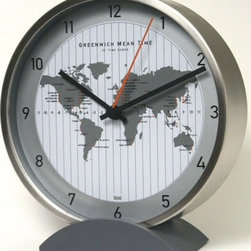 Designer Wall Clock Silver - This Bai Convertible Steel Clock comes with a unique silicone stand easily snaps off and turn into a #wallclock.