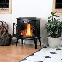 Enviro Ascot EGA600 Series 19'' x 25'' DV Gas Stove - Ascot is a rear vent stove, 17,000 BTUs. Body comes assembled and nova burner and log set are included. All units are shipped NG and include an LP conversion kit.