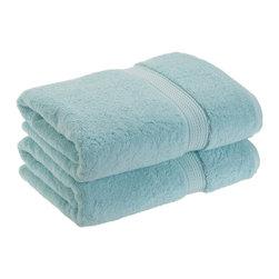 Luxurious Egyptian Cotton 900 Gram 2-Piece Seafoam Bath Towel Set - Luxurious Egyptian Cotton 900GSM 2pc Seafoam Bath Towel Set